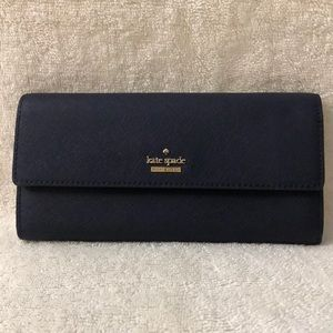 Kate Spade large navy blue wallet